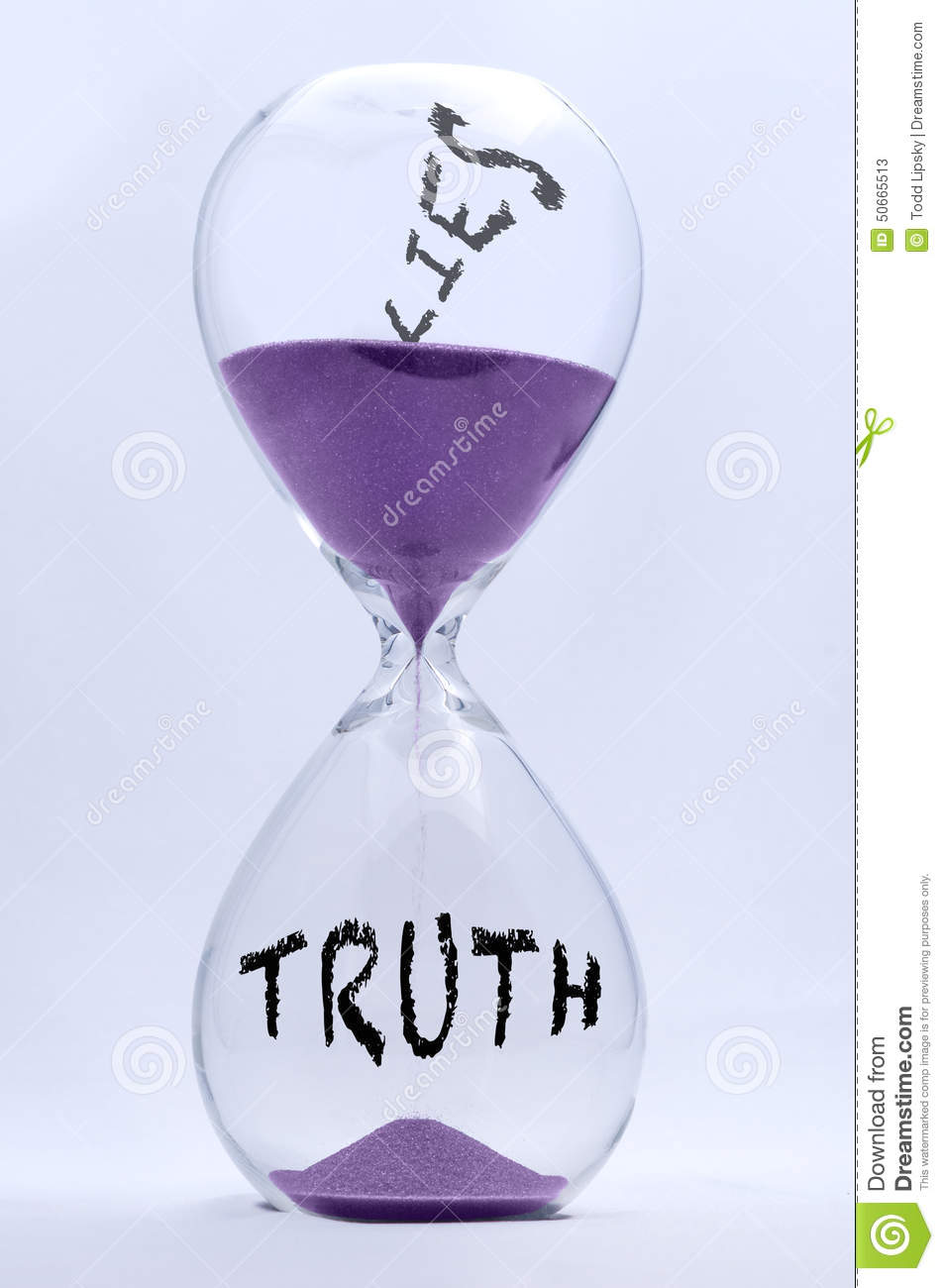 Truth and Lies Hourglass