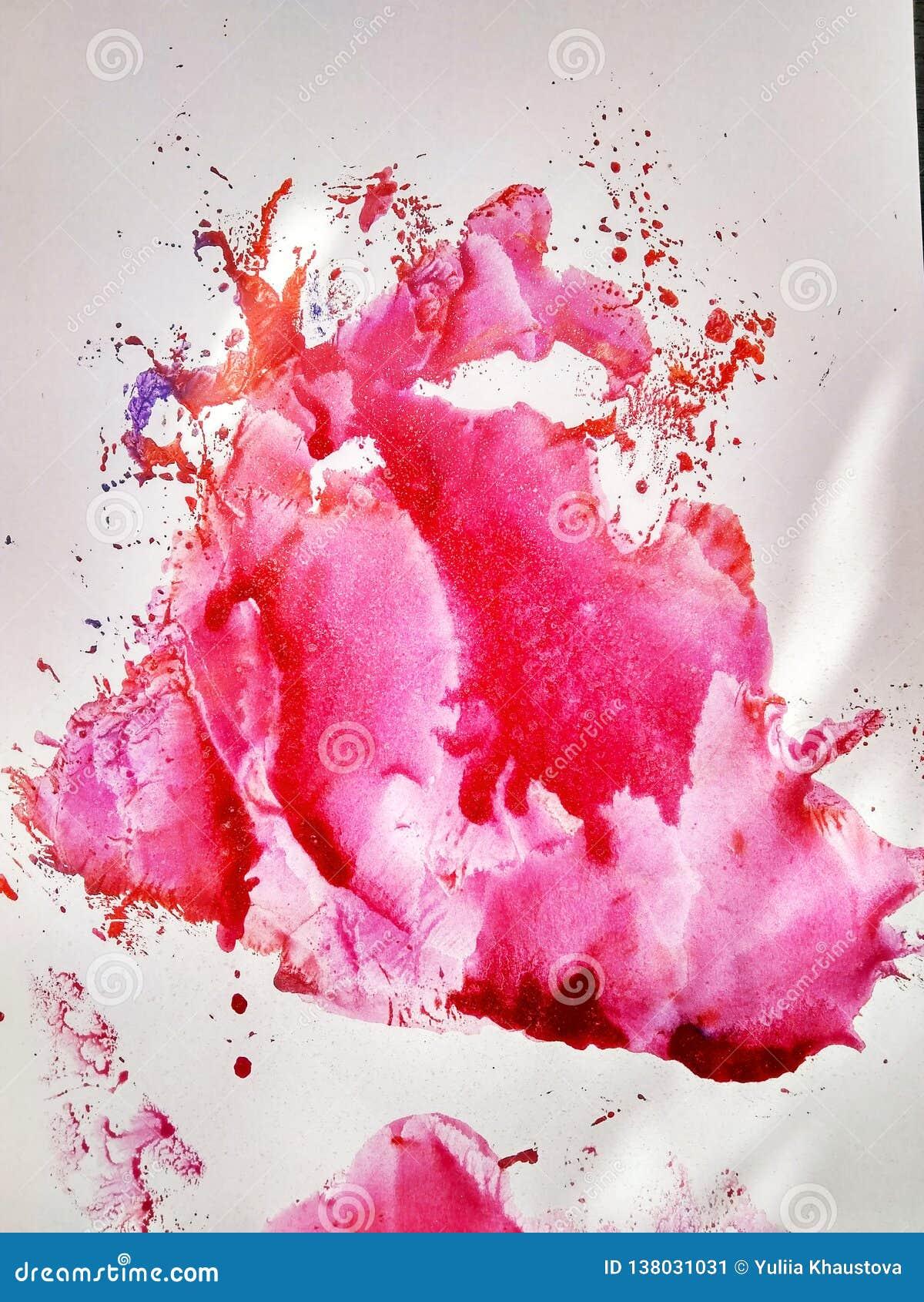 Tryck och färgstänk för målning för texturfärgvattenfärg