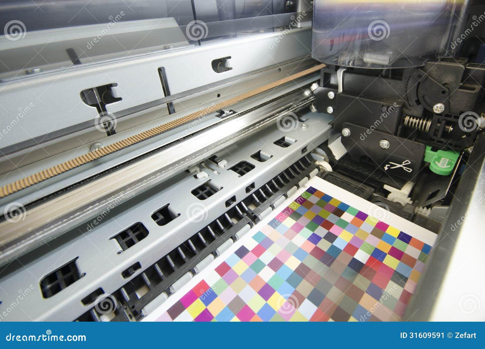 Trycket shoppar, den inre bläckstråleskrivaren för det stora formatet