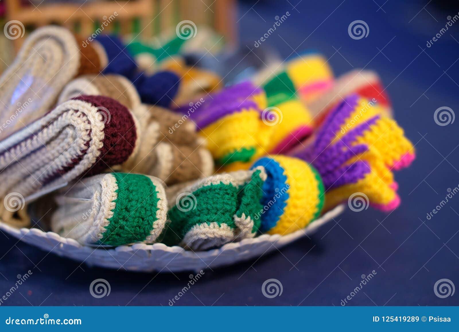 Trykotowy pasek dziewiarska tkaniny patka handmade rękodzieła embroid
