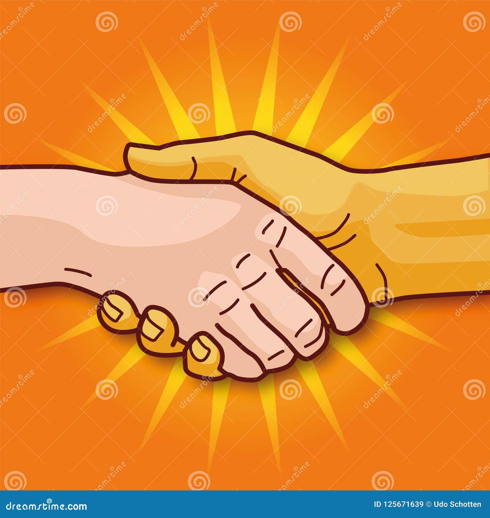 Trząść ręki i współpracę