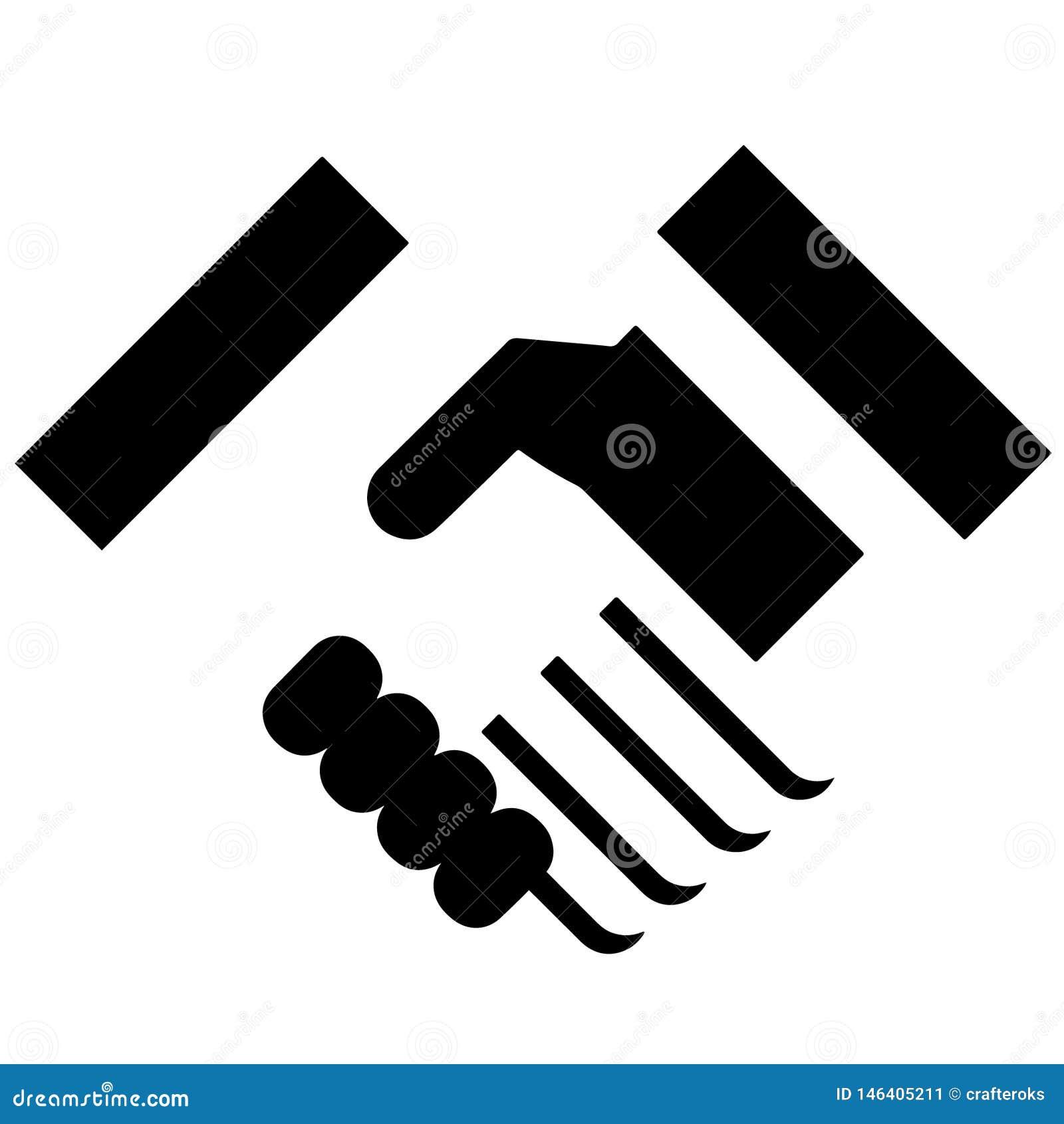 Trząść ręki ilustracyjne crafteroks