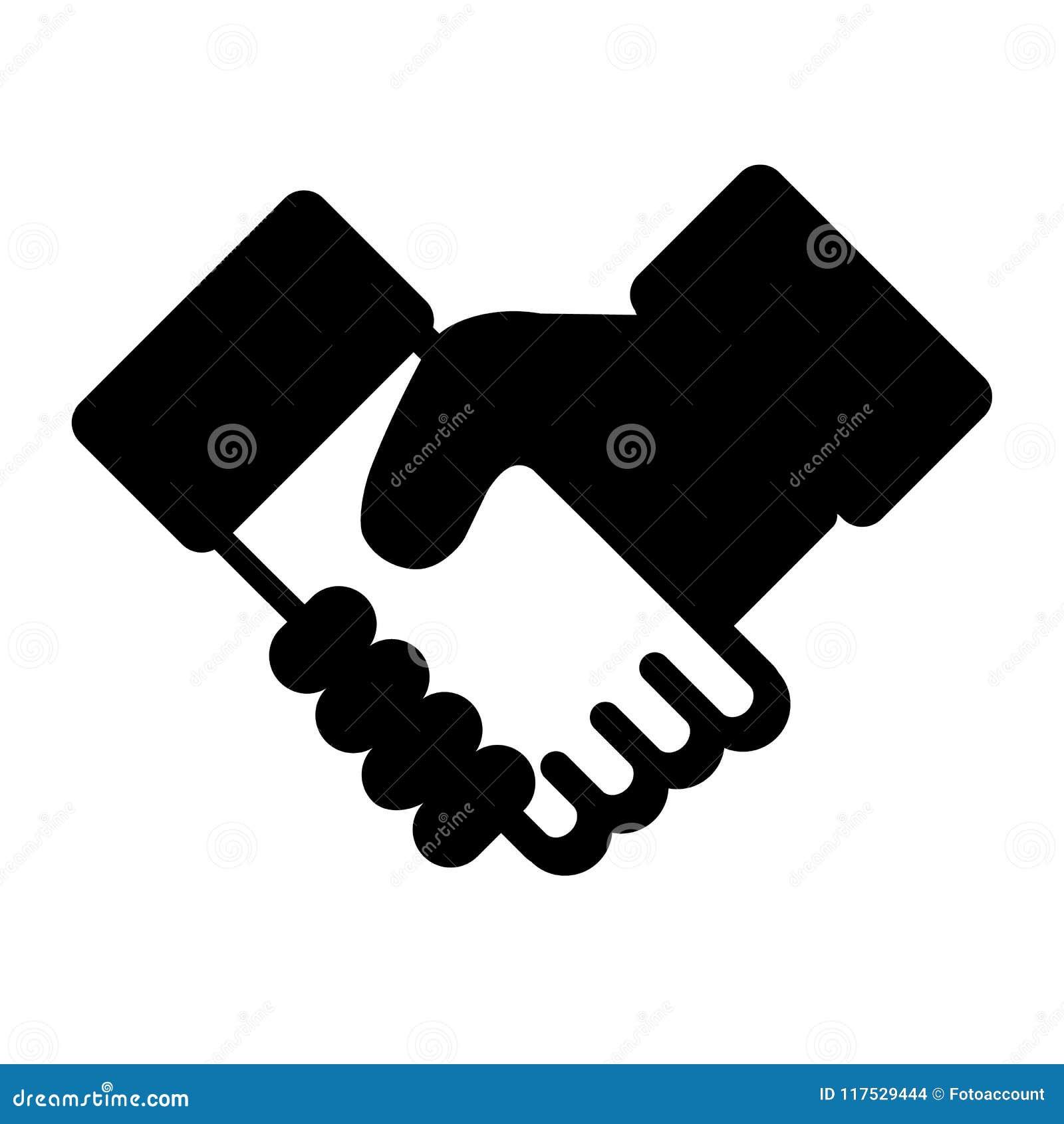 Trząść ręki Odizolowywać Na Białym tle - Biznesowa Wektorowa ikona -