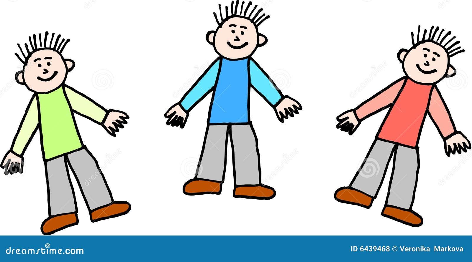 Trzech chłopców