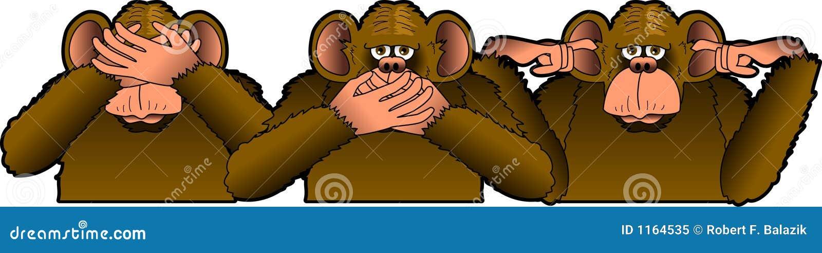 Trzy małpy mądrych