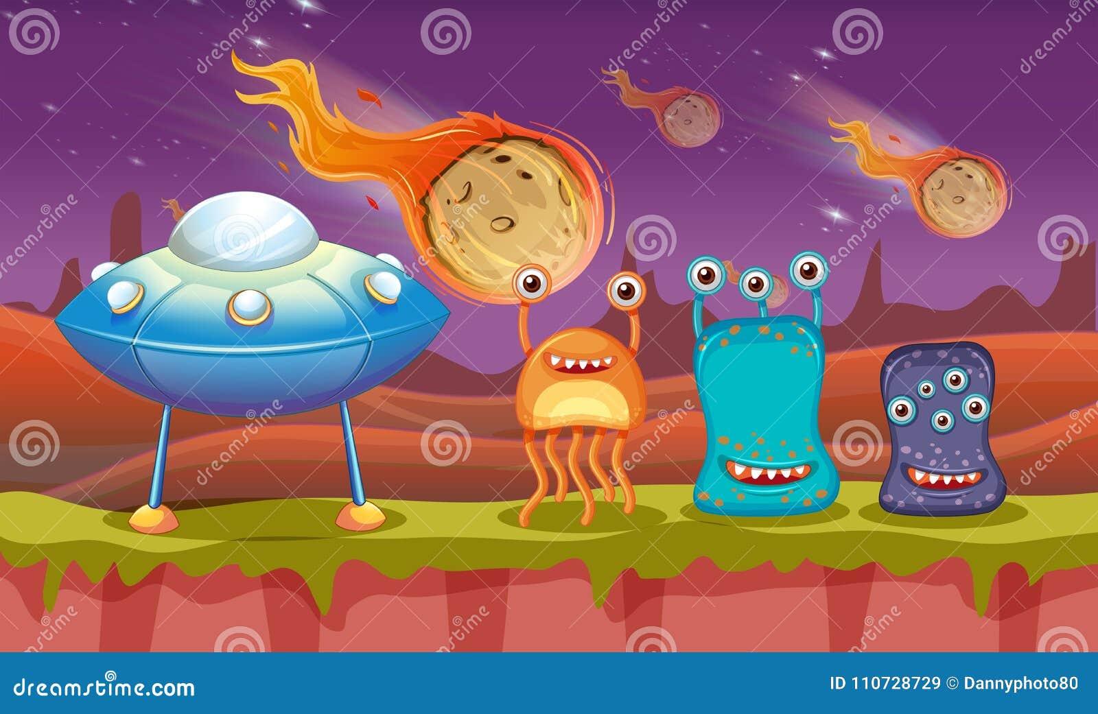 Trzy UFO na planecie i obcy