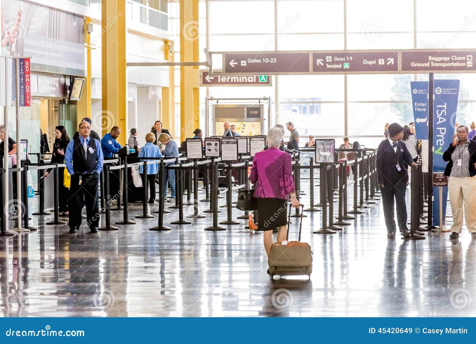 TSA的乘客在机场排行