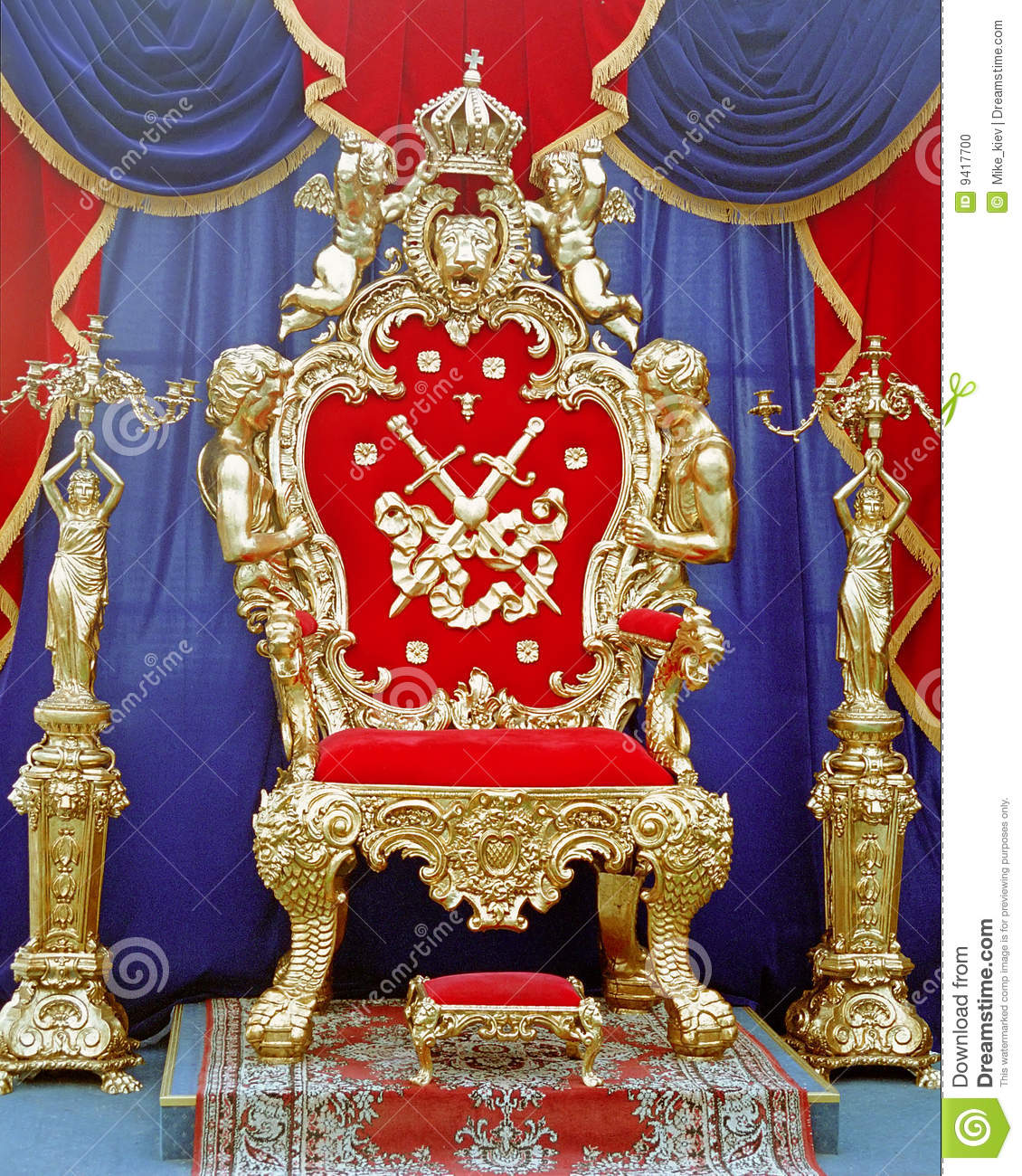 Tsar Throne Stock Photo Image 9417700