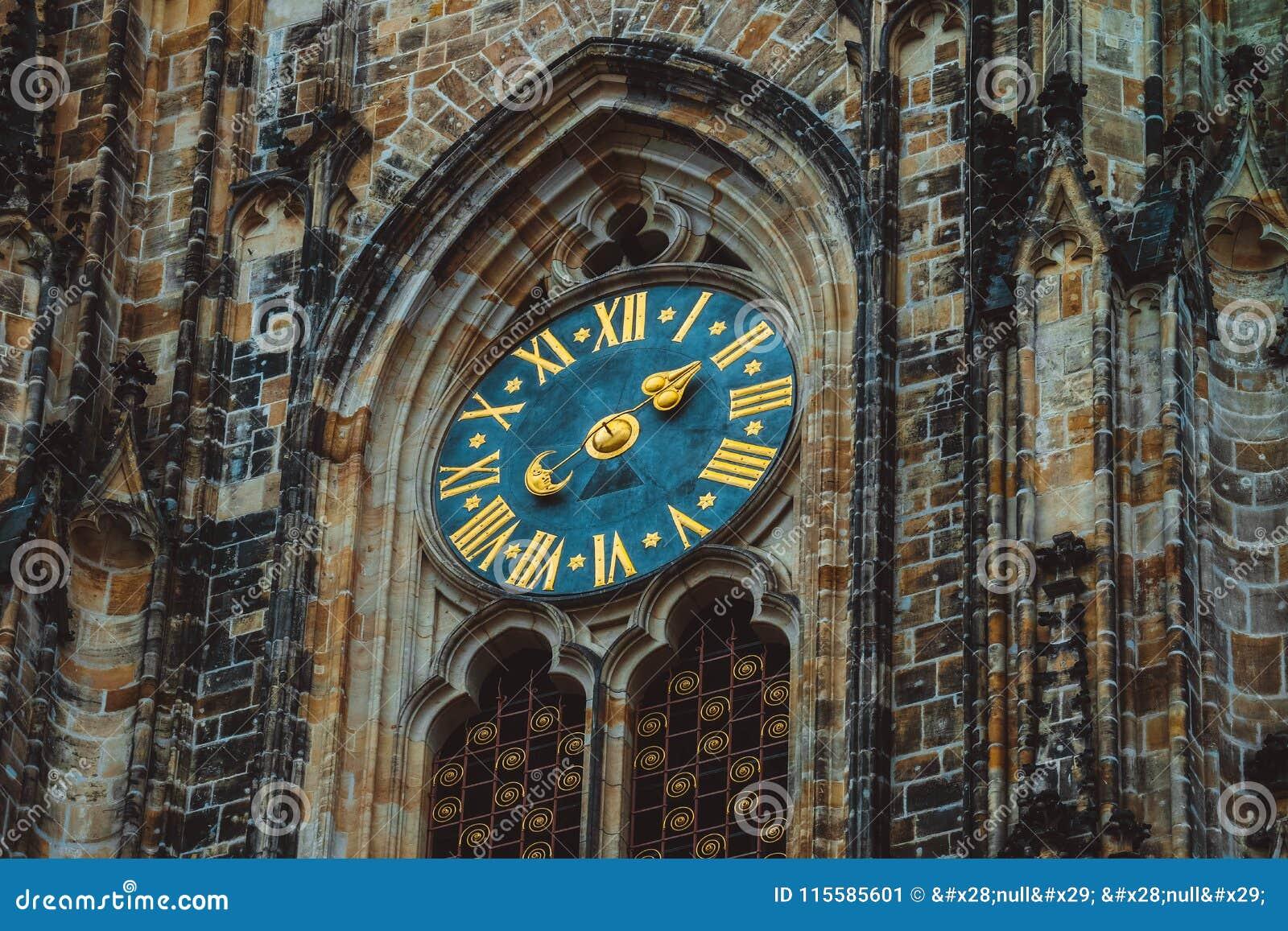 Tscheche, Prag, Uhr der Heiliges Vitus-Kathedralendekoration Ich