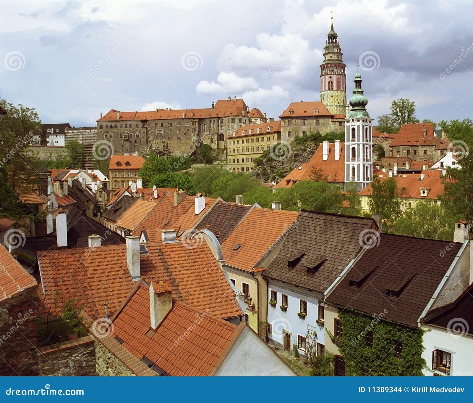 Tschechische Krumlov Ansicht