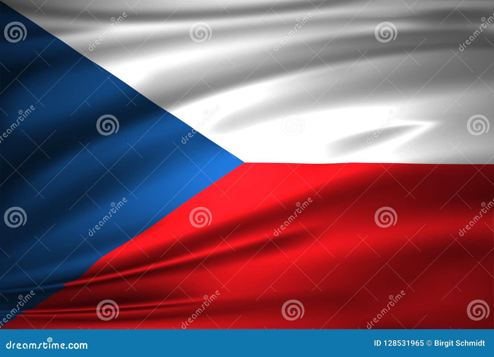 Tschechische Republik-Flaggen-Illustration