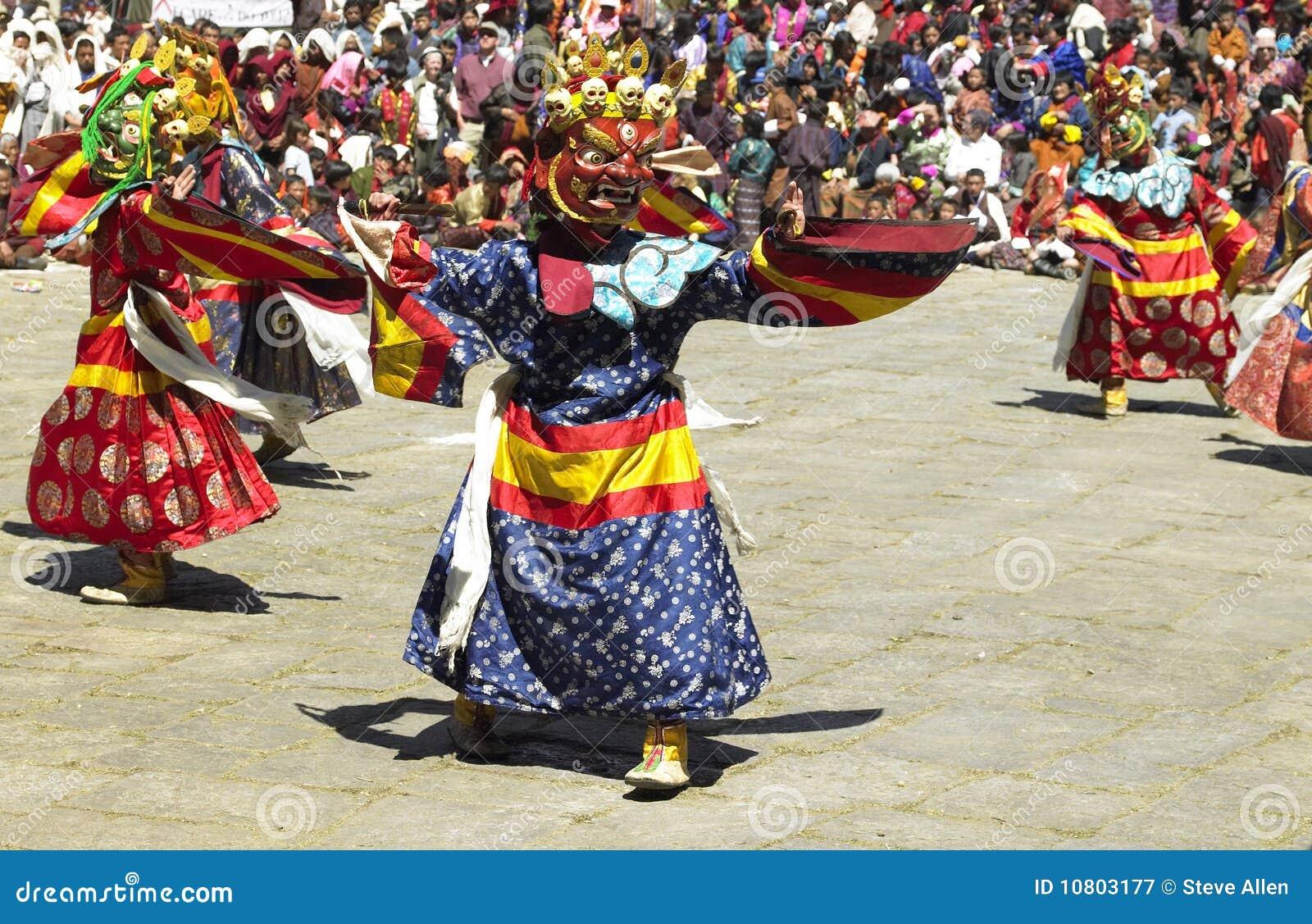Tsechu för bhutan kungarikeparo