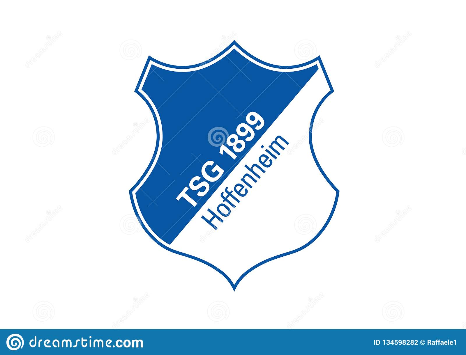 Map Of Germany Hoffenheim.Tsg Hoffenheim Logo Editorial Photography Illustration Of