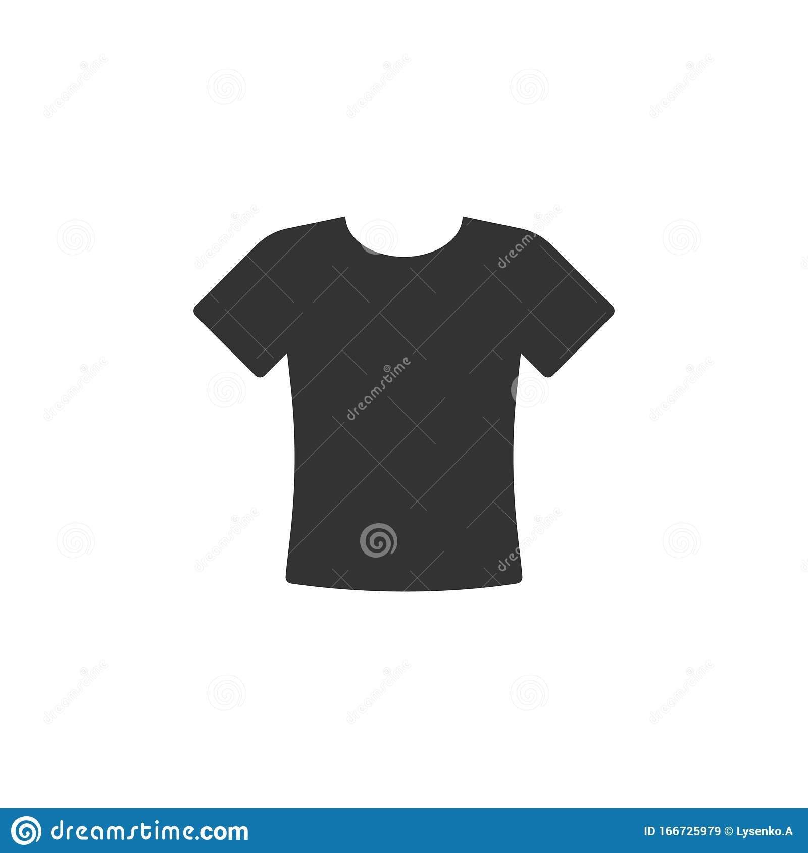 tshirt icon in flat style casual clothes vector illustration on white isolated background polo wear business concept stock vector illustration of store office 166725979 dreamstime com