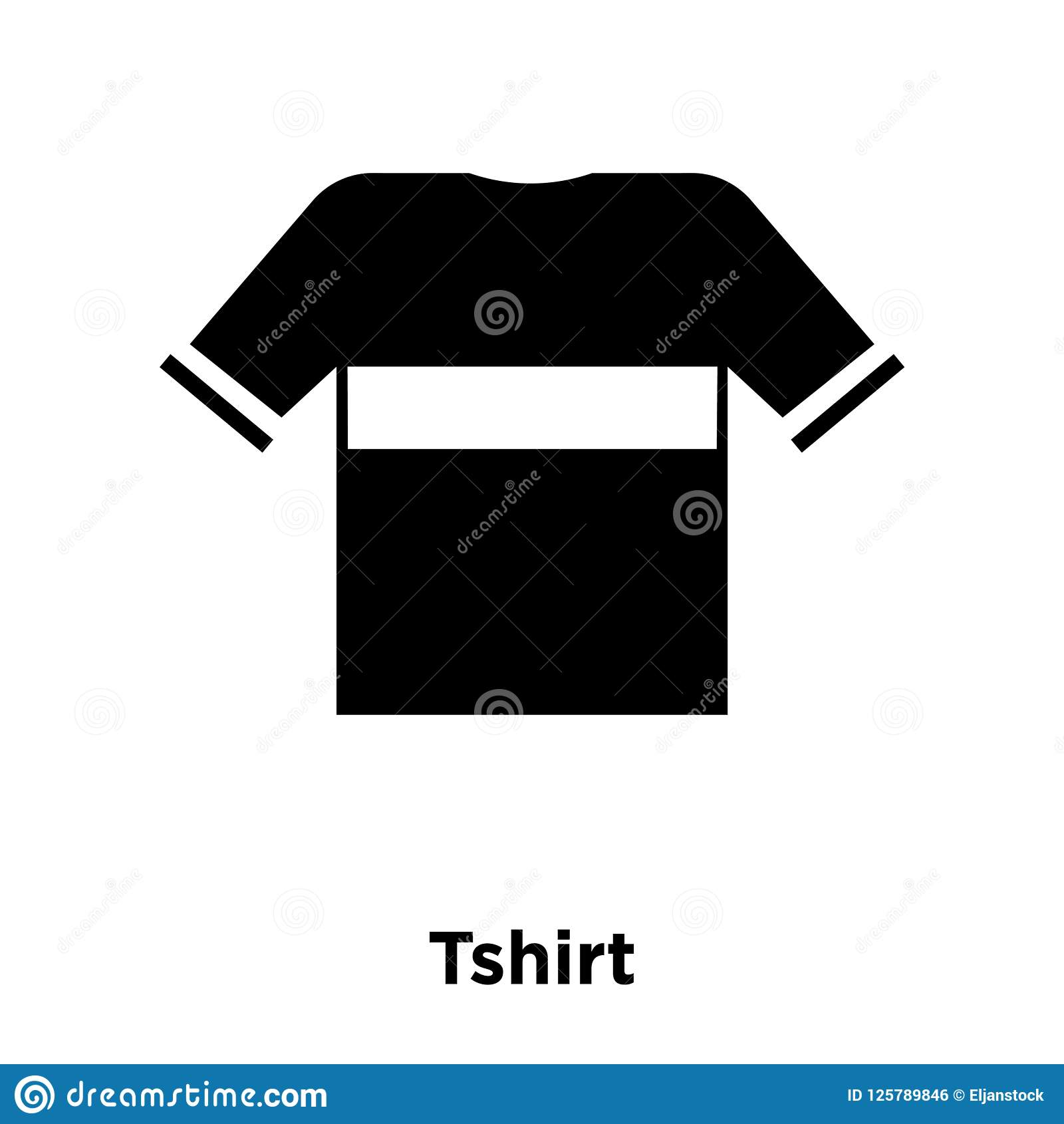 tshirt icon vector isolated on white background logo concept of stock vector illustration of object element 125789846 dreamstime com
