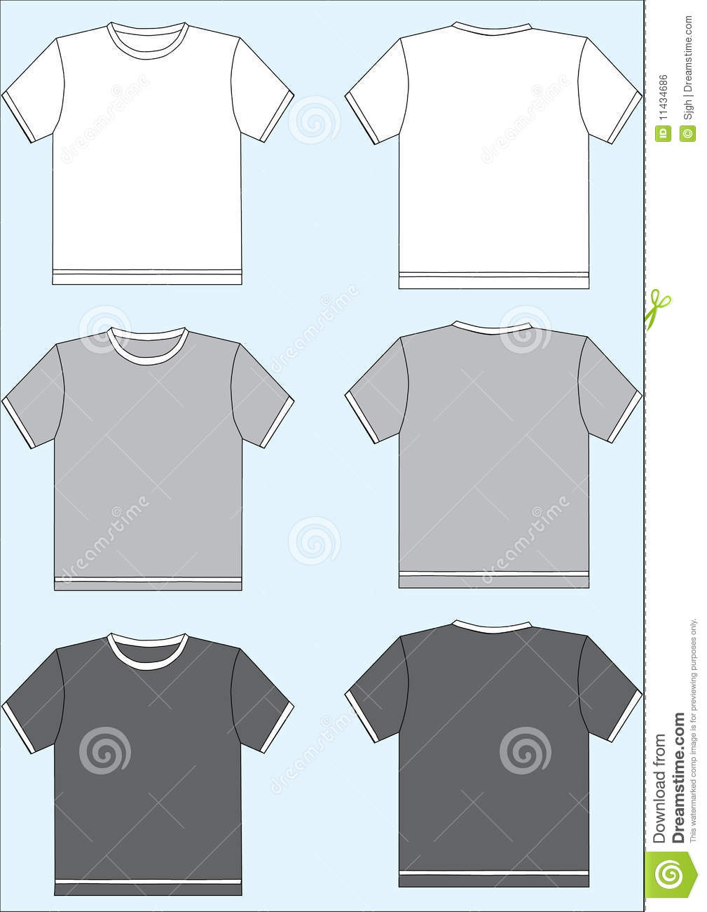 tshirt template stock vector image of retail active