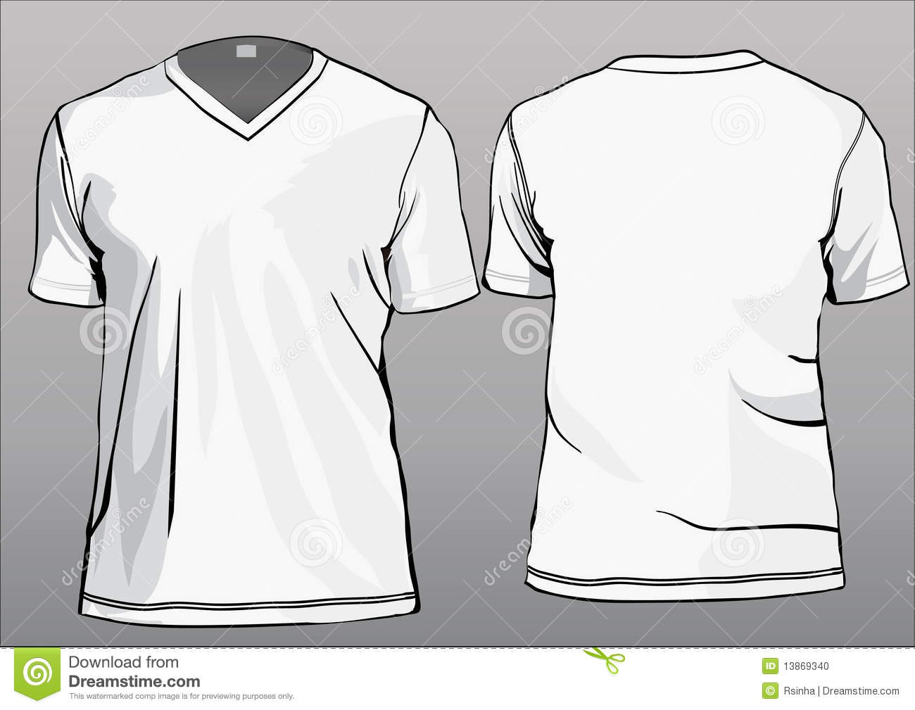 Images of V Neck T Shirt Template - #SpaceHero