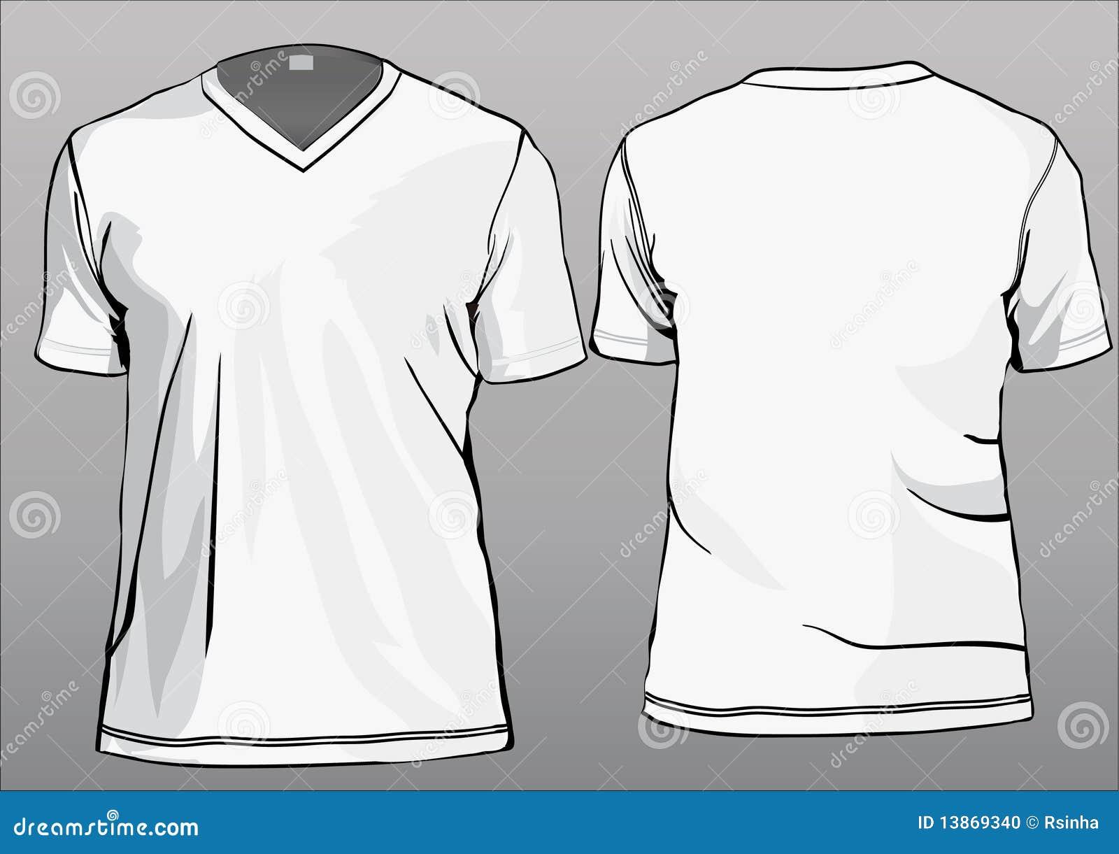 tshirt template with v neck stock vector illustration of uniform printing 13869340. Black Bedroom Furniture Sets. Home Design Ideas