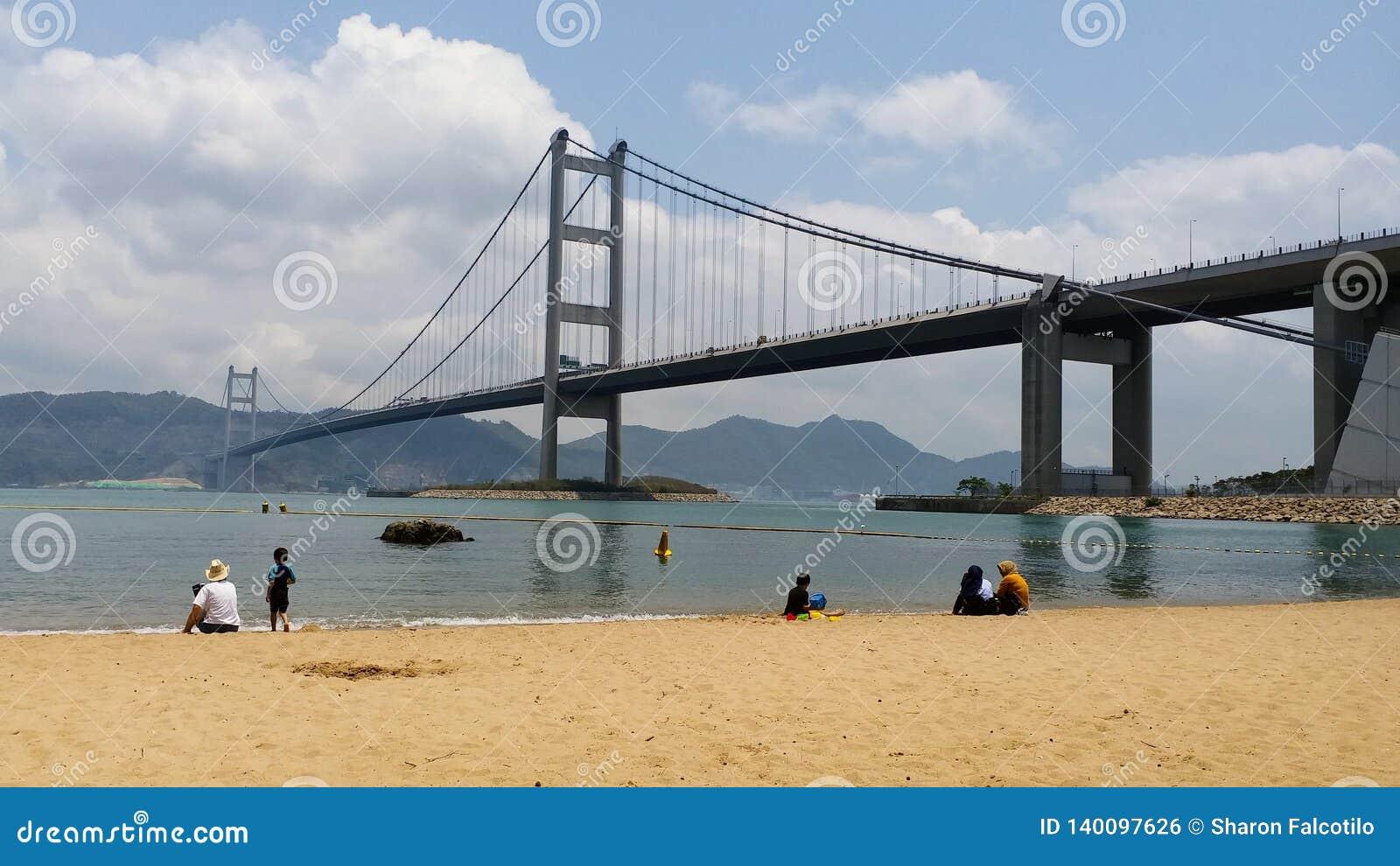 Tsing Ma Bridge, MA fahl, Park-Insel, Hong Kong