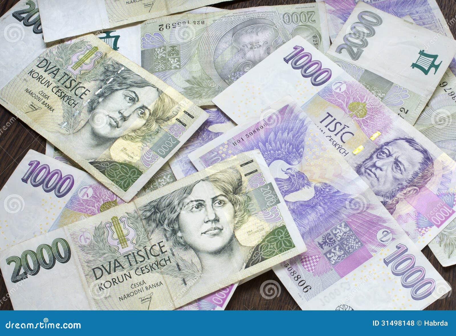 Tsjechisch geld, Tsjechische kronen