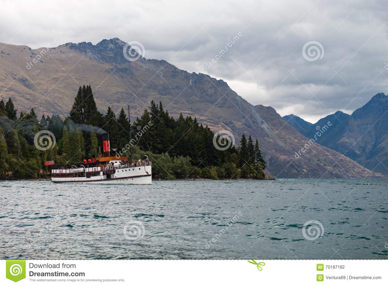 TSS Earnslaw - the only remaining commercial passenger coal-fired steamship in the southern hemisphere
