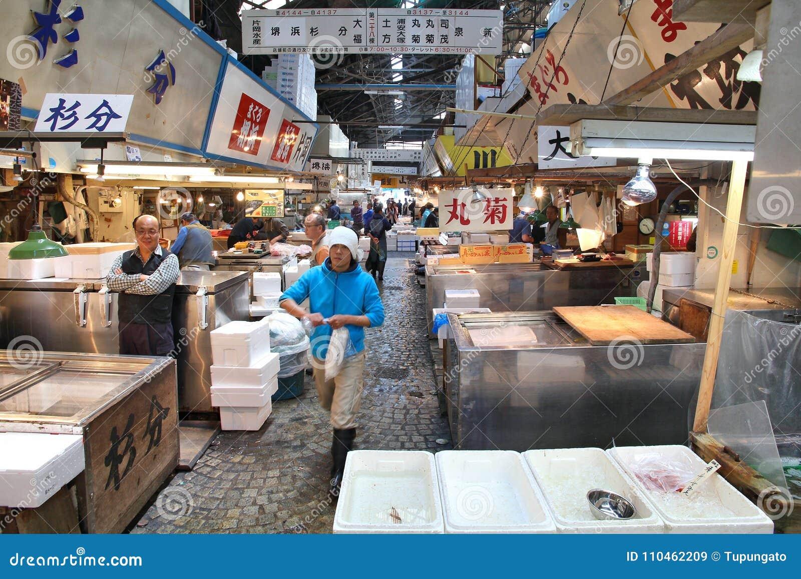 Tsukiji fiskmarknad