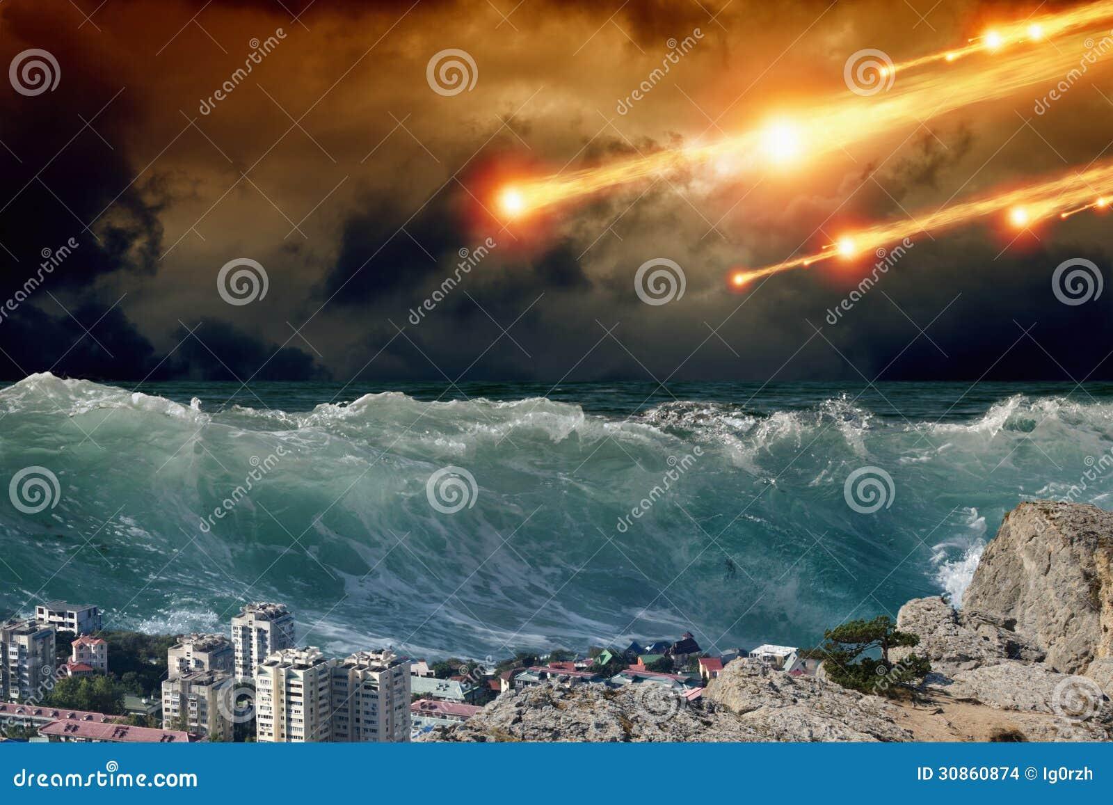 Tsunami, impacto asteroide