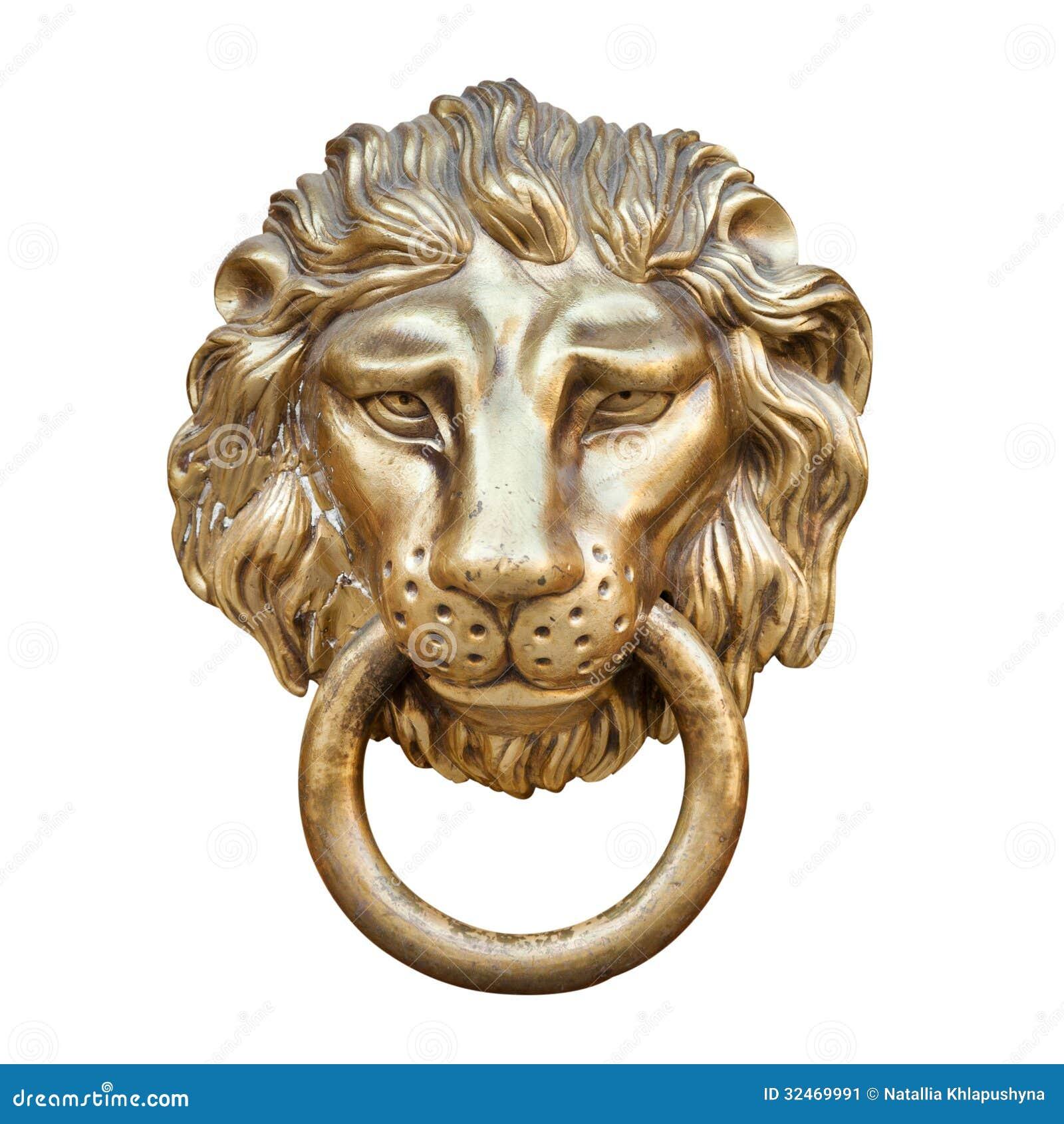 T te de lion heurtoir de porte image stock image 32469991 - Heurtoir de porte tete de lion ...