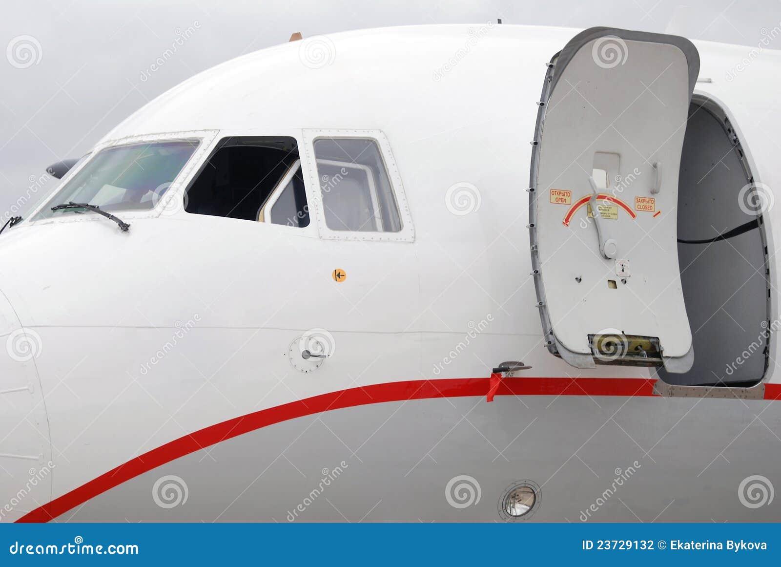 Tu Russian airplane tale door and window & Tu Russian Airplane Tale Door And Window Stock Photography ... Pezcame.Com