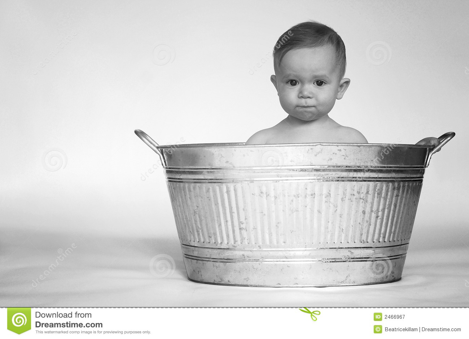 Tub Baby stock image. Image of skin, innocence, galvanized - 2466967