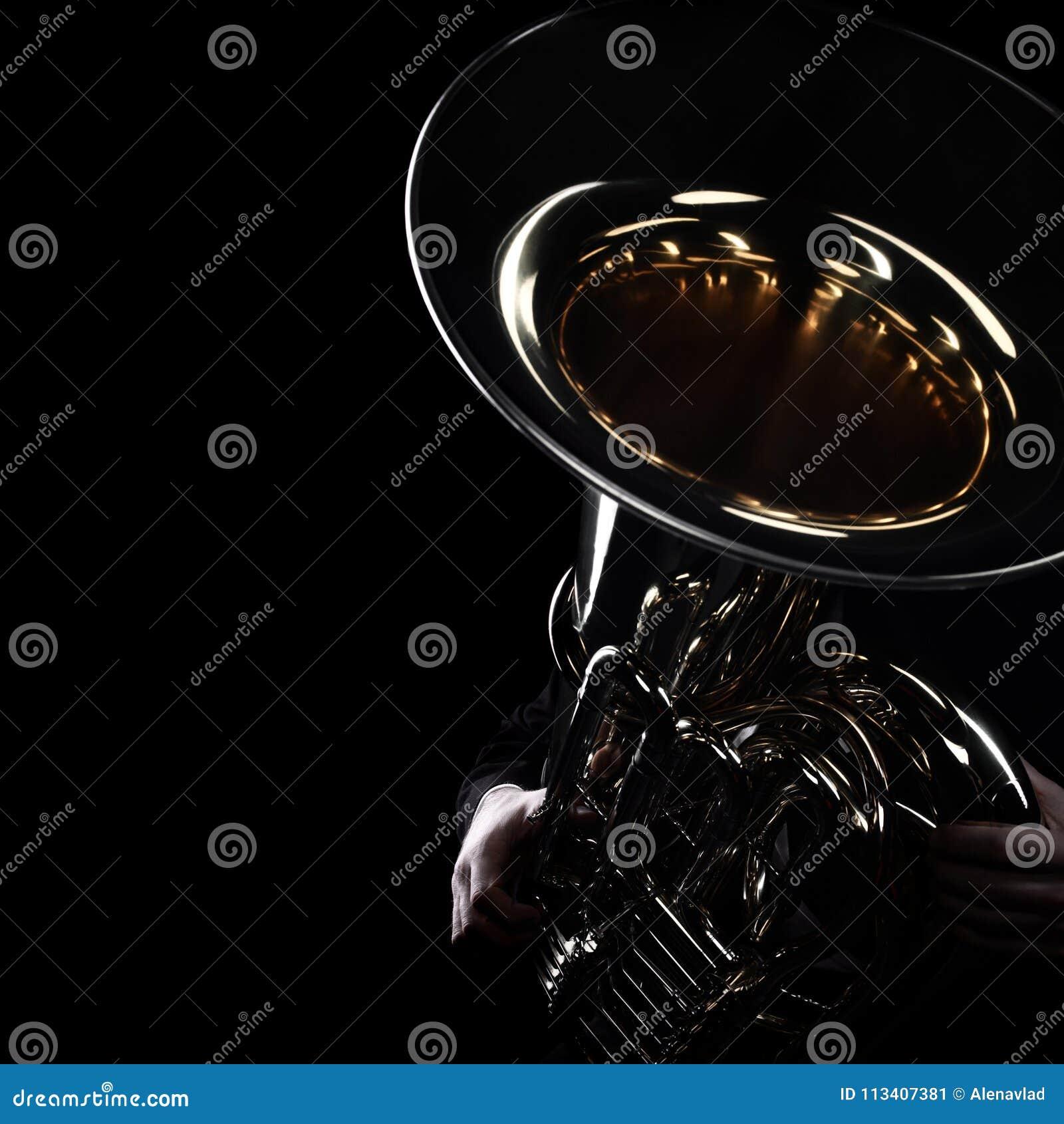 Tuba gracza mosiężni instrumenty