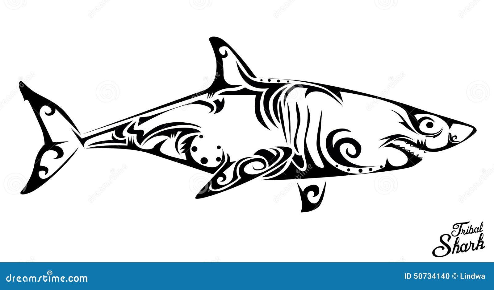 Tubarao Tribal Ilustracao Do Vetor Ilustracao De Oceano 50734140