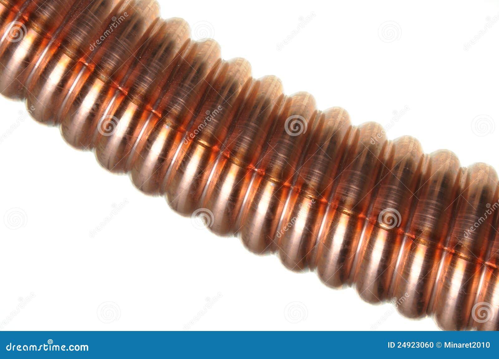 tube de cuivre ondul photo stock image 24923060. Black Bedroom Furniture Sets. Home Design Ideas