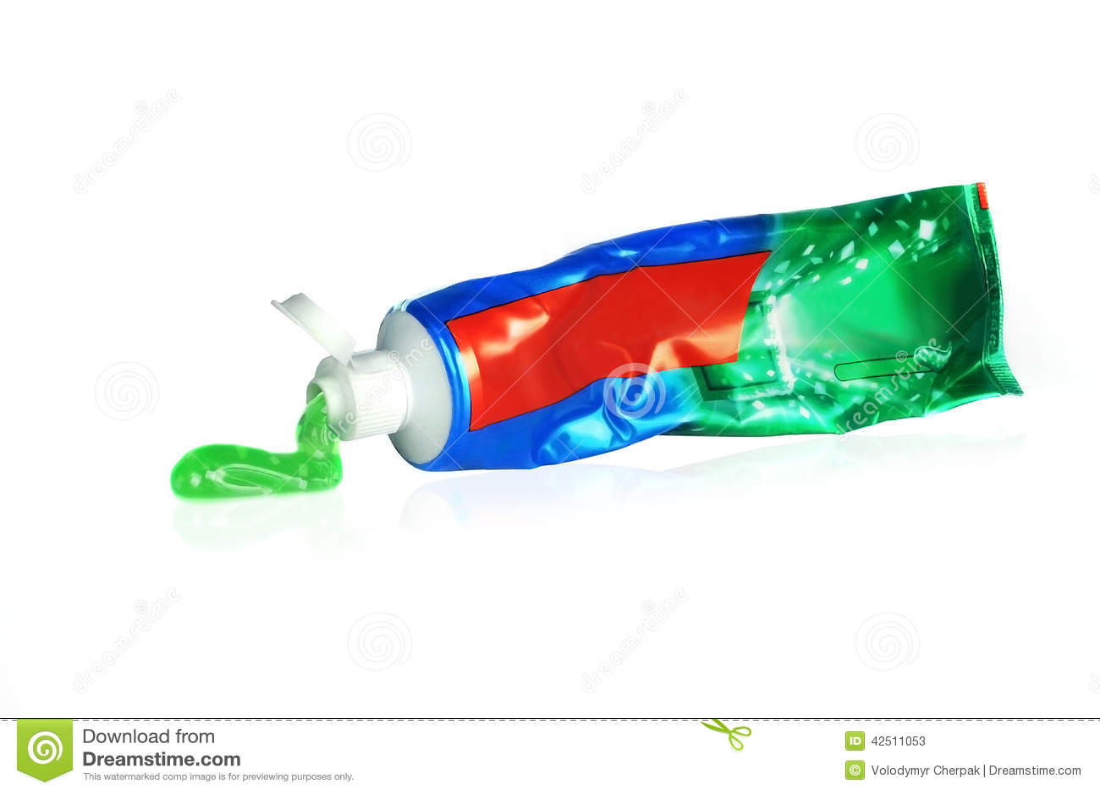 Tube de pâte dentifrice