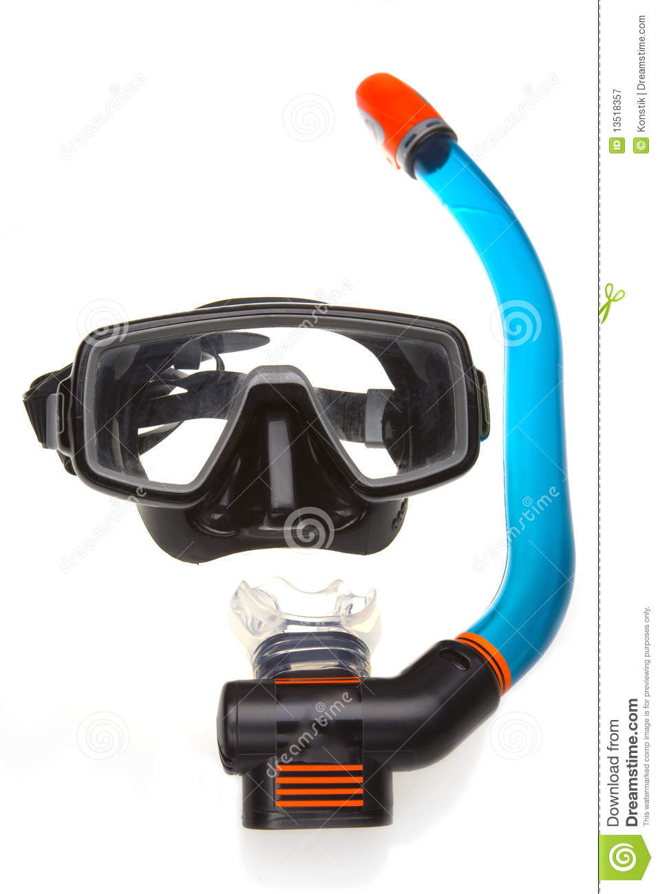 Mask and tube for a scuba diving royalty free stock photo for Dive tube