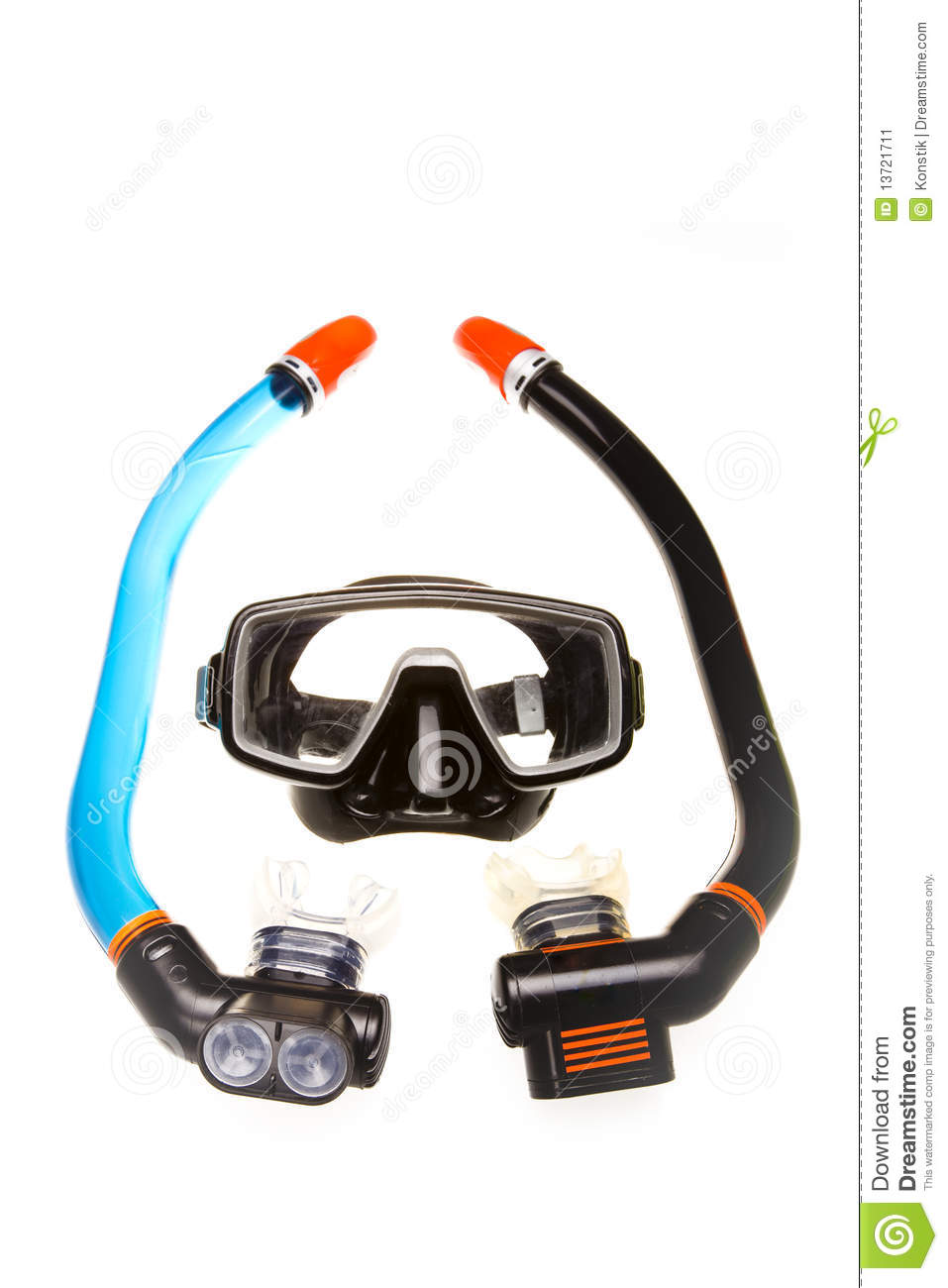 Tube for diving snorkel and mask stock image image for Dive tube