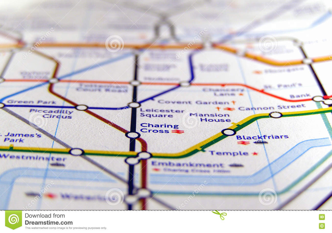 A Map Of London England.Tube Map Of London Underground Editorial Photography Image Of