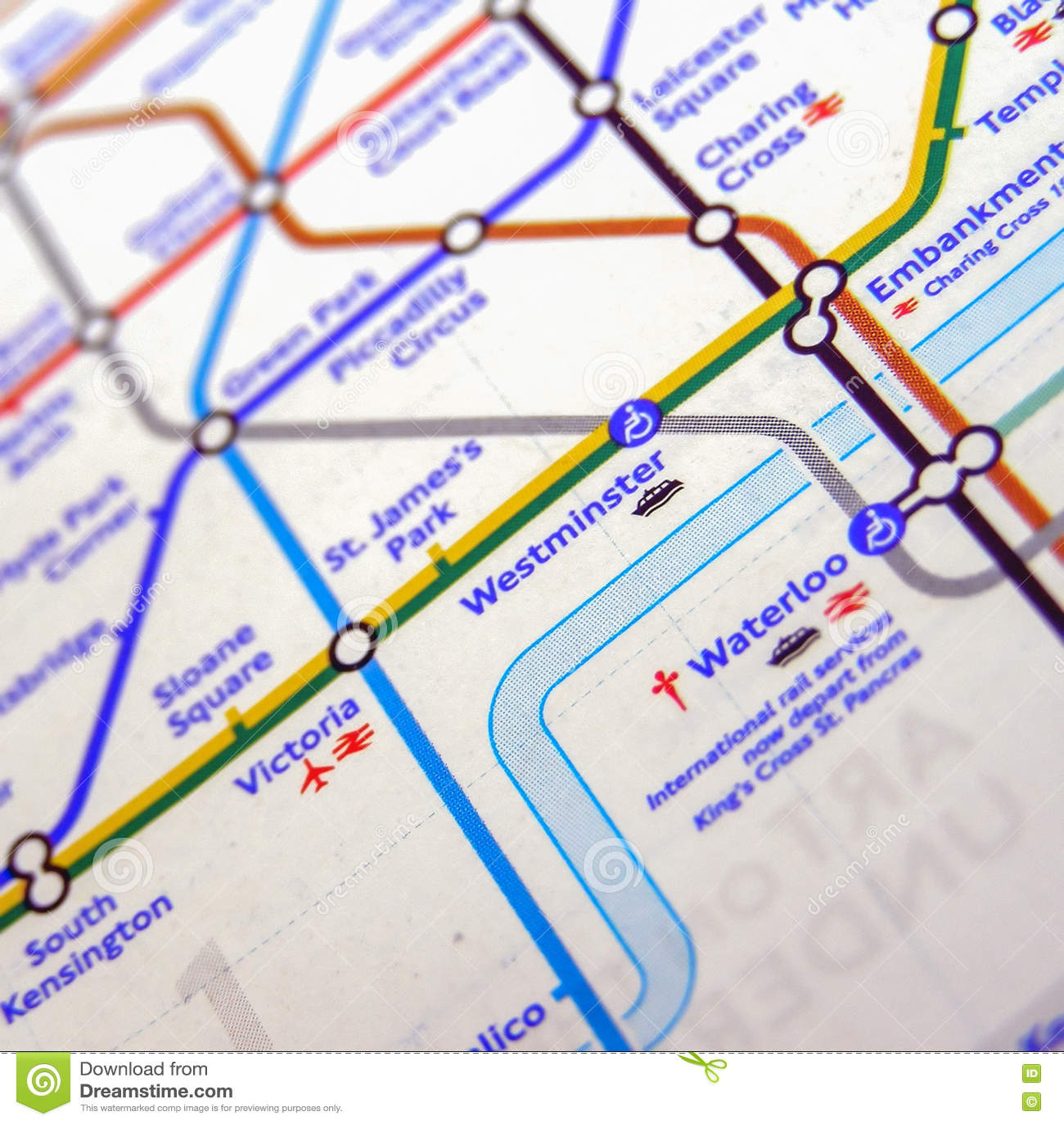 Map Subway London.Tube Map Of London Underground Editorial Stock Photo Image Of