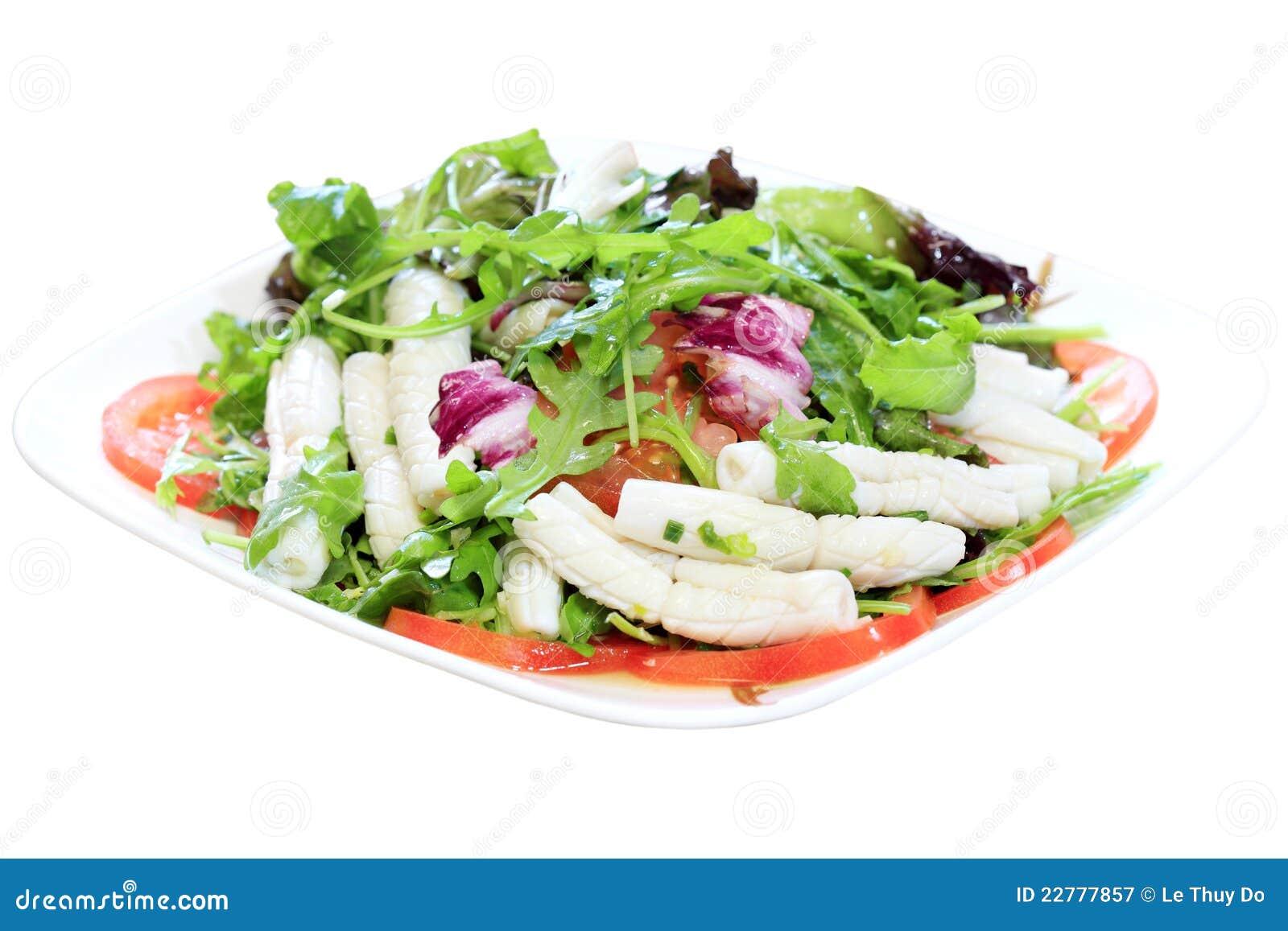 Tube Squid Salad