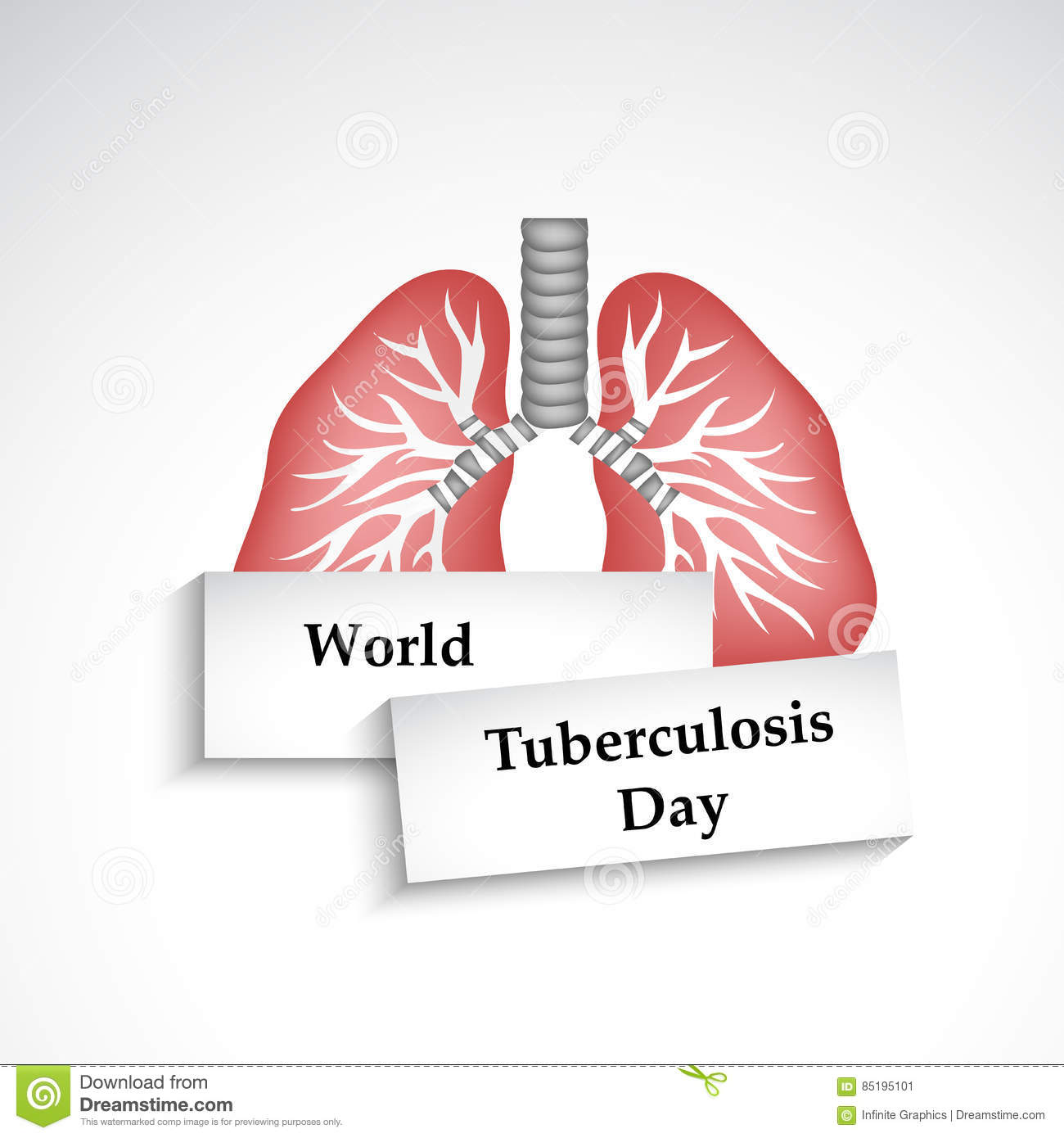 Tuberculosis Day Background Stock Vector Illustration Of Part
