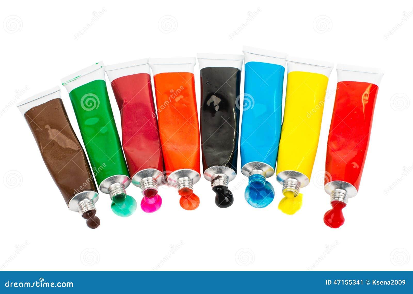 tubes avec la peinture acrylique image stock image du pagaille tache 47155341. Black Bedroom Furniture Sets. Home Design Ideas