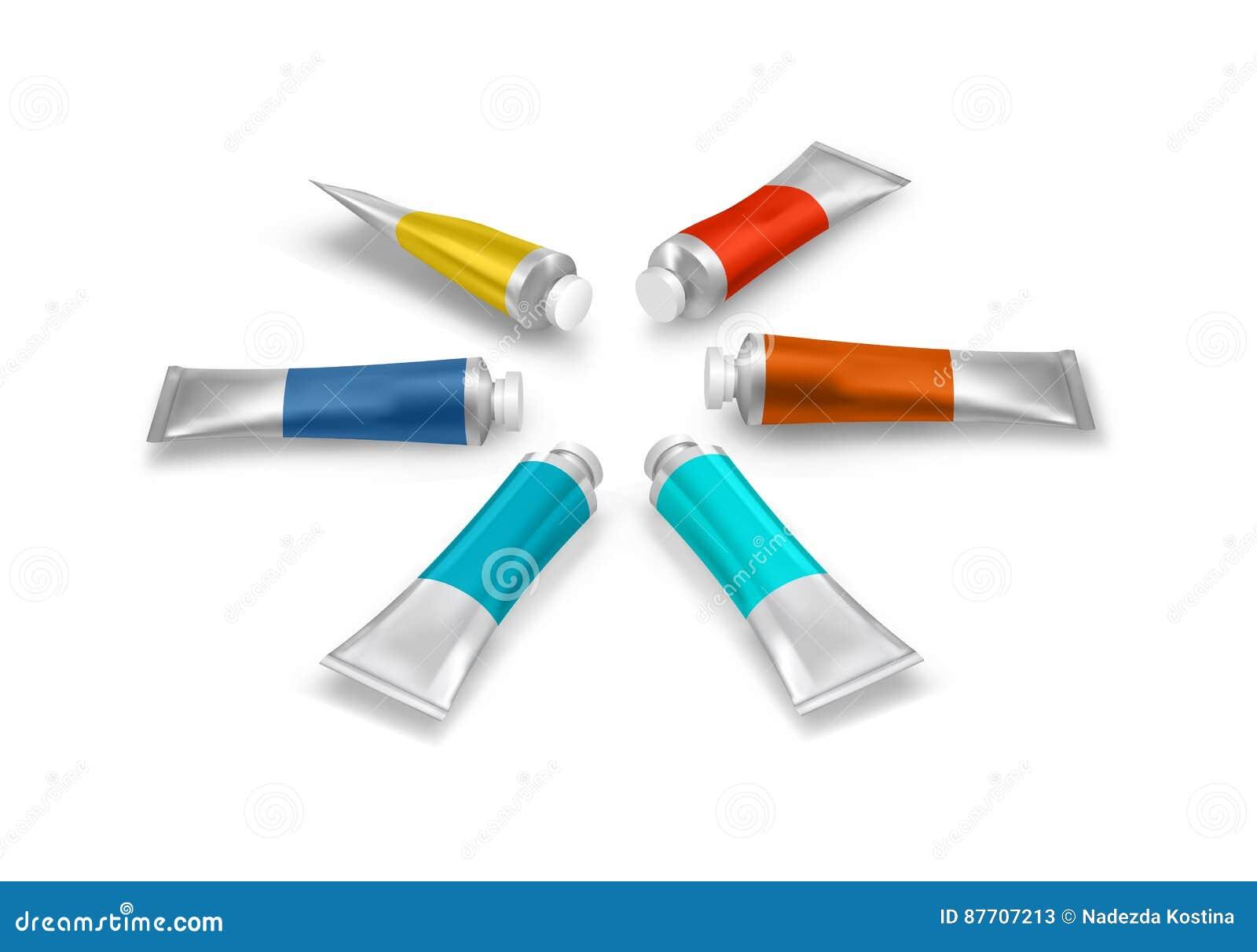 Tubes de peinture de vecteur