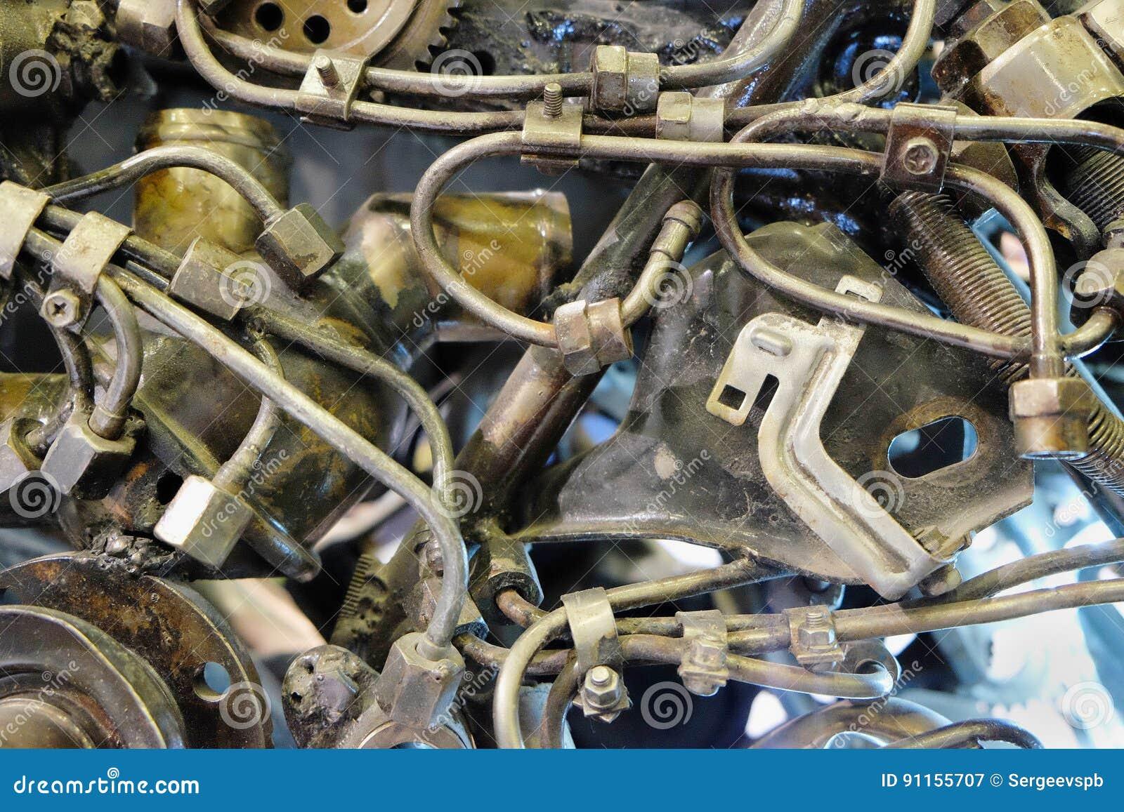 Tubi e dettagli di collegamento del metallo