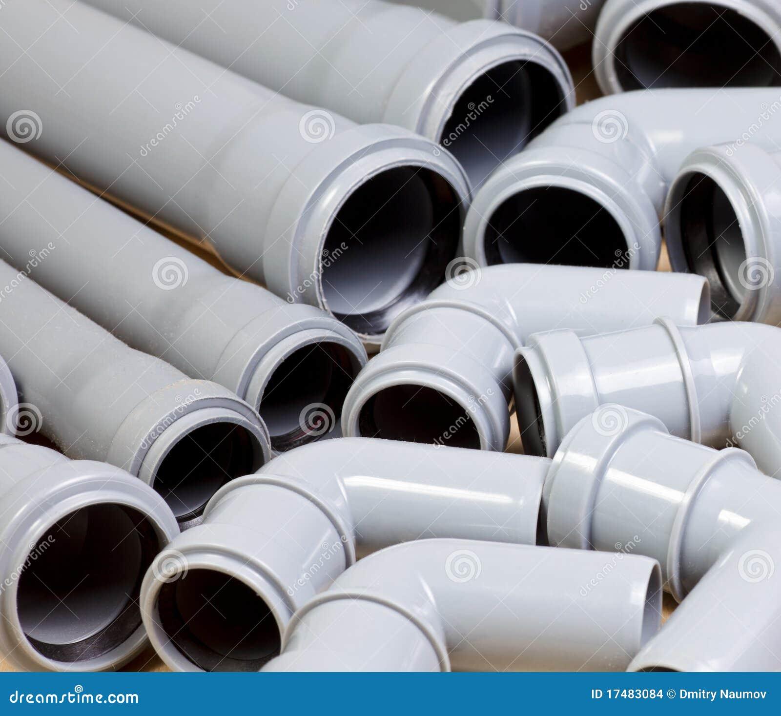 Tubi per fognatura fotografia stock immagine di idraulico for Tipi di tubi idraulici in plastica