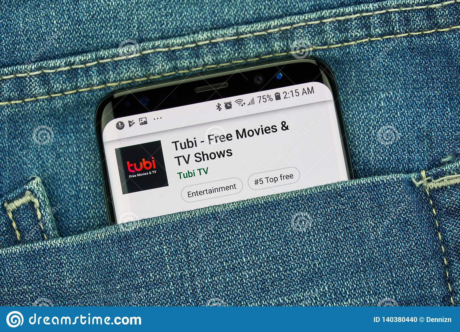Tubi Tv Mobile App On Samsung S8 Editorial Image - Image of