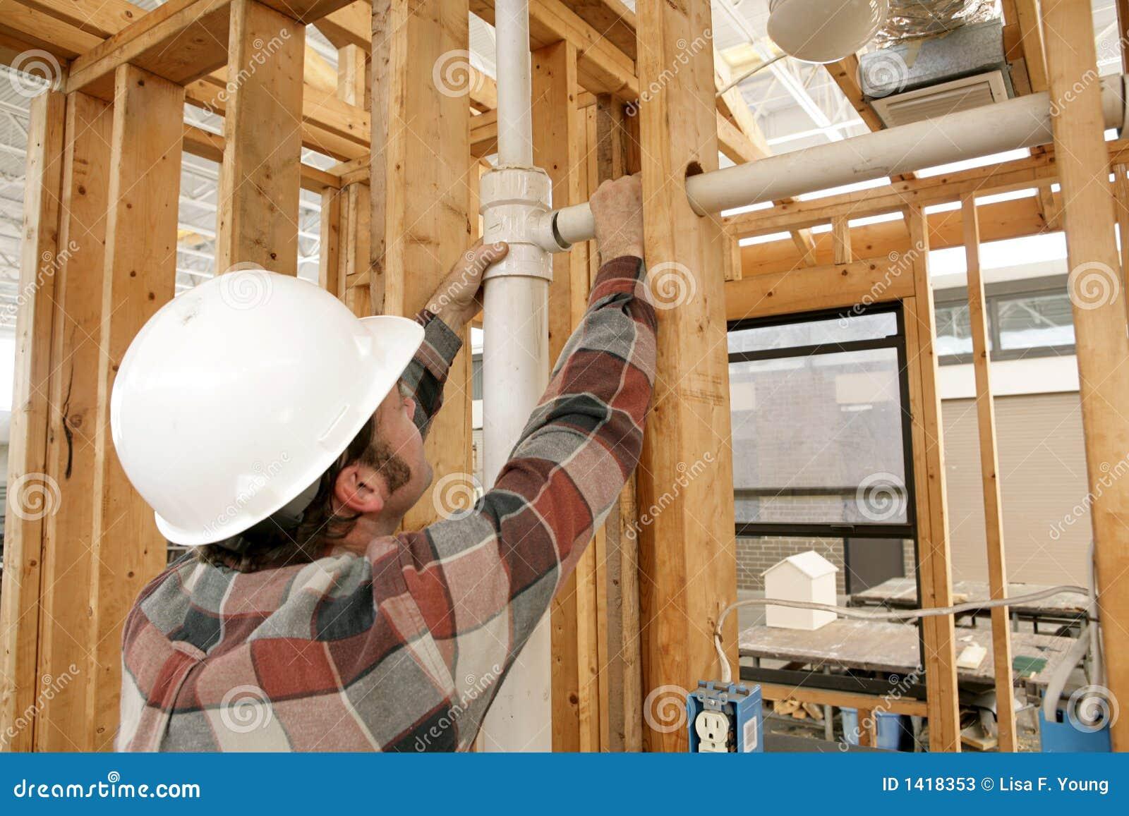 Tubo de comunicación del trabajador de construcción