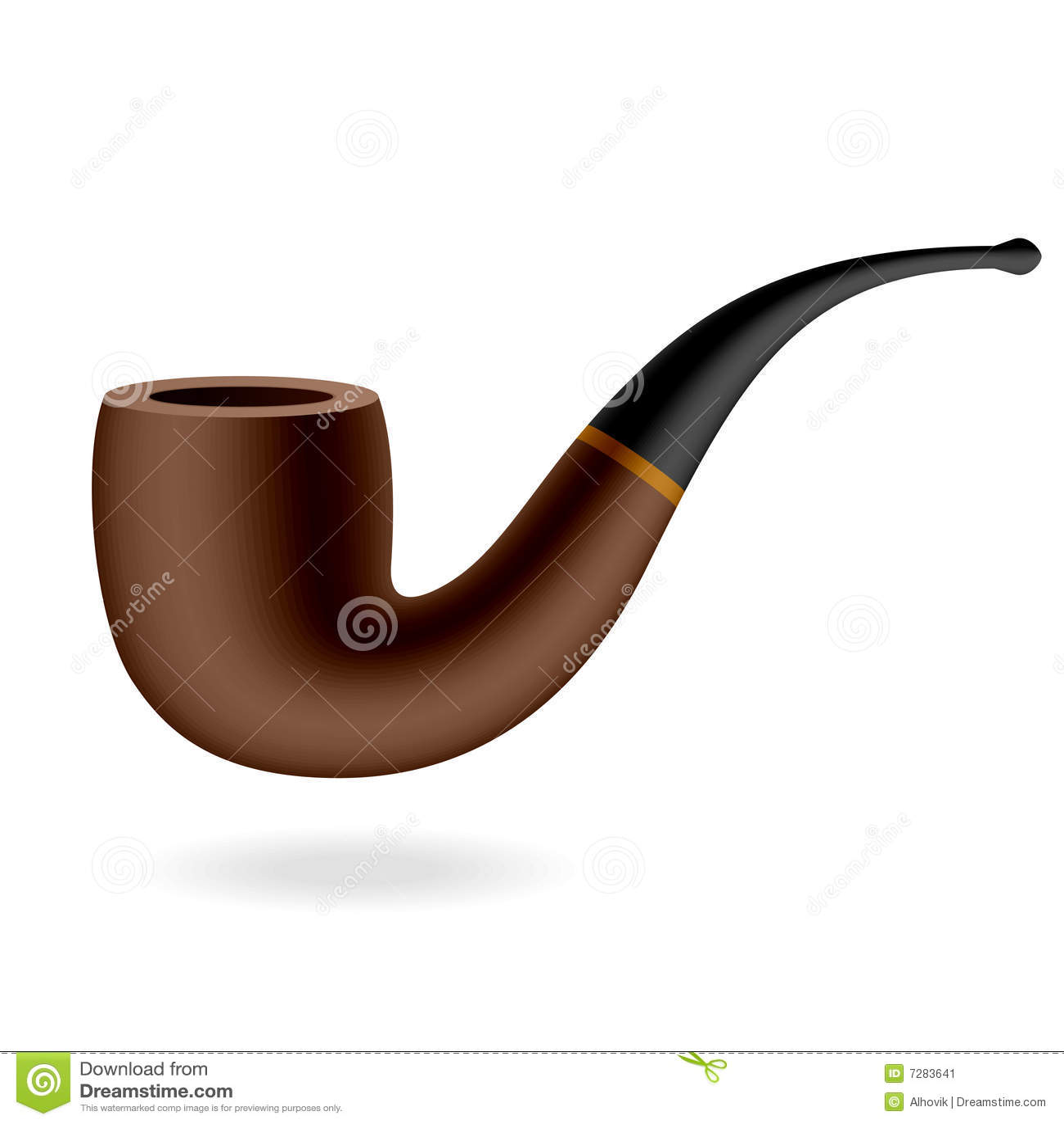 Tubo de tabaco del vector