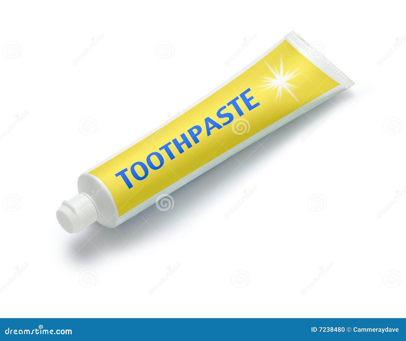 Tubo di dentifricio in pasta