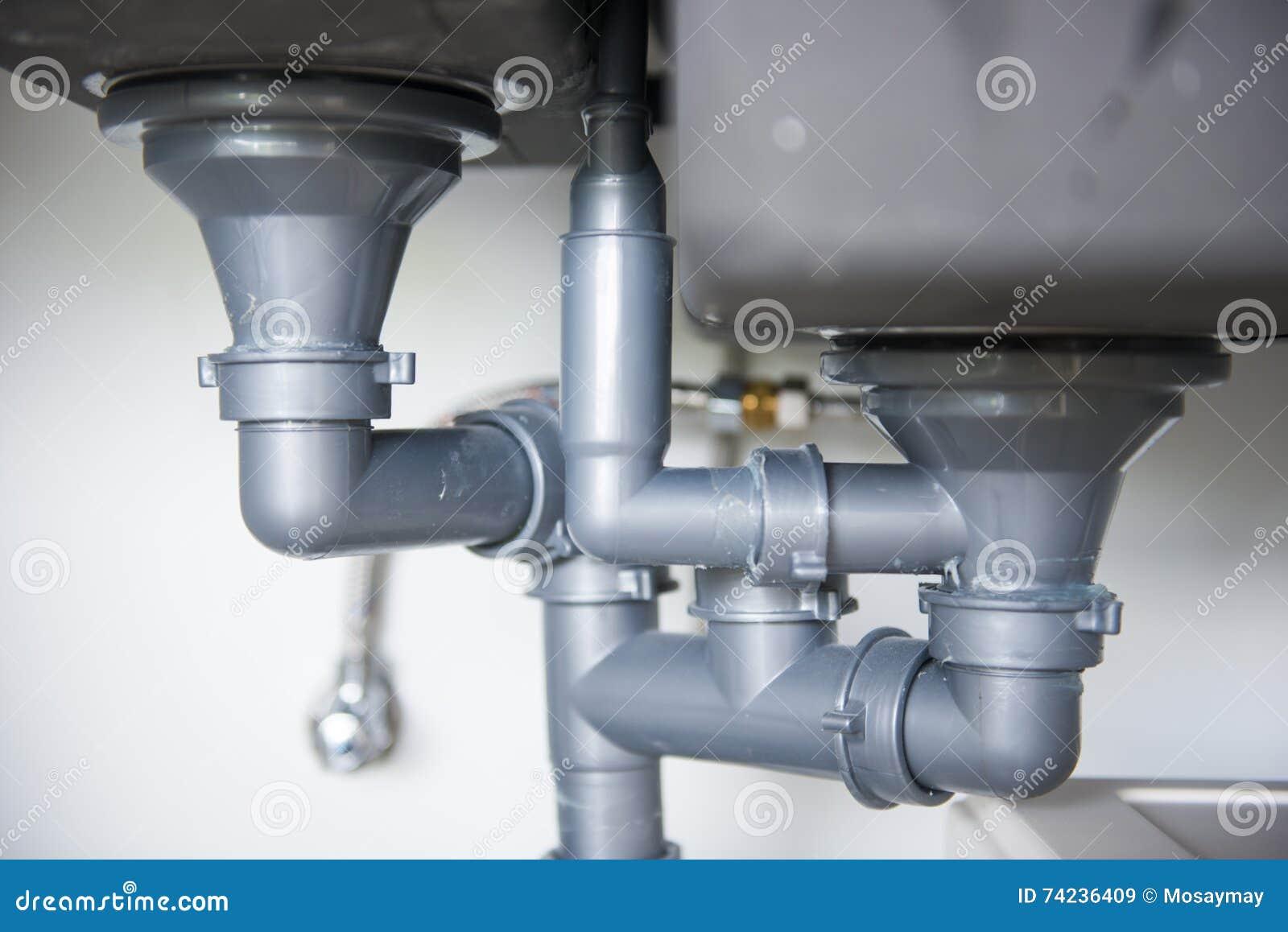 Tubo Scarico Lavandino Bagno tubo di scarico del lavandino di cucina immagine stock