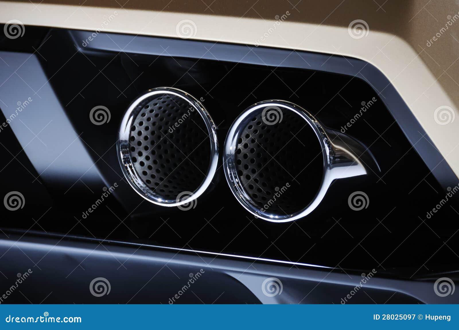 Tubo di scarico dell automobile di Lamborghini